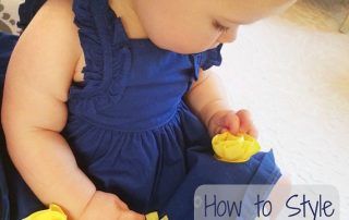Natalie Weakly Image Consultant Houston Signature Style How to Style Yourself Happy Baby Close Up Blue Flowers Yellow Dress Intro