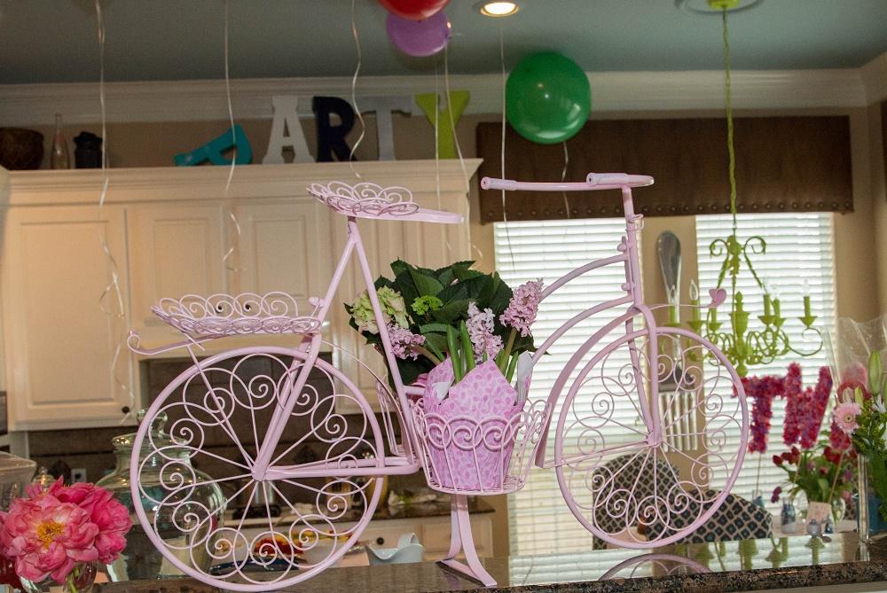 Tiny Intern Turns Two Bike Themed Girls Party Bike Decor Houston Image Consultant