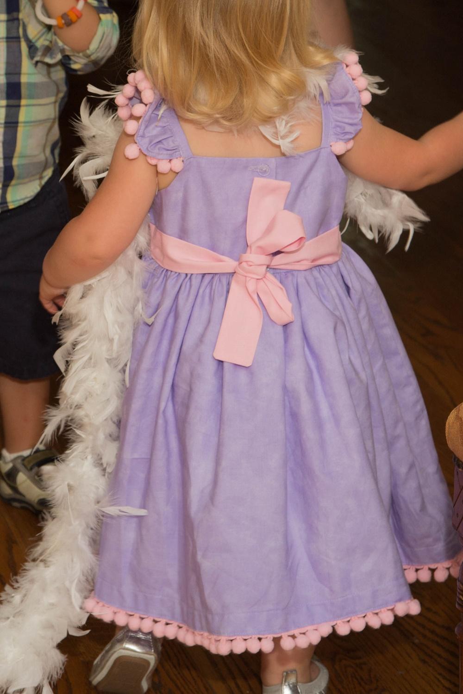 Tiny Intern Turns Two Bike Themed Girls Party Cuteheads Custom Dress Back Detail