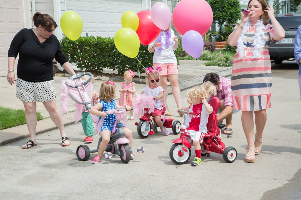 Tiny Intern Turns Two Bike Themed Girls Party Mini Parade Group