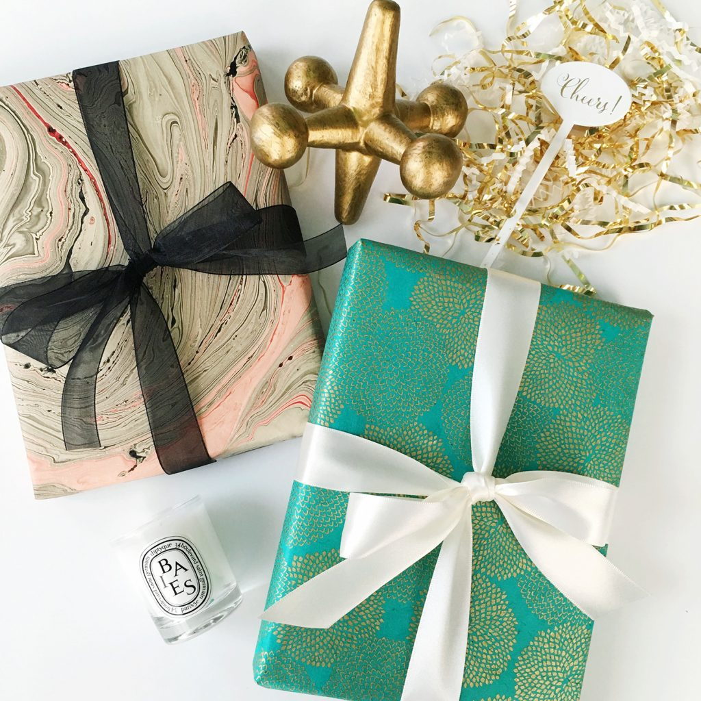 styled gift card and boxes
