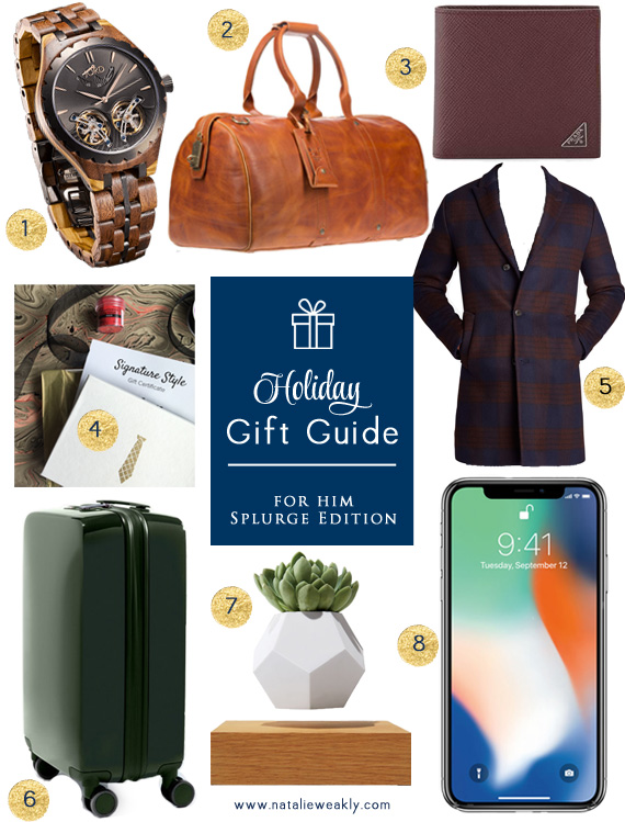Holiday Gift Guide For Him Splurge Edition by Signature Style