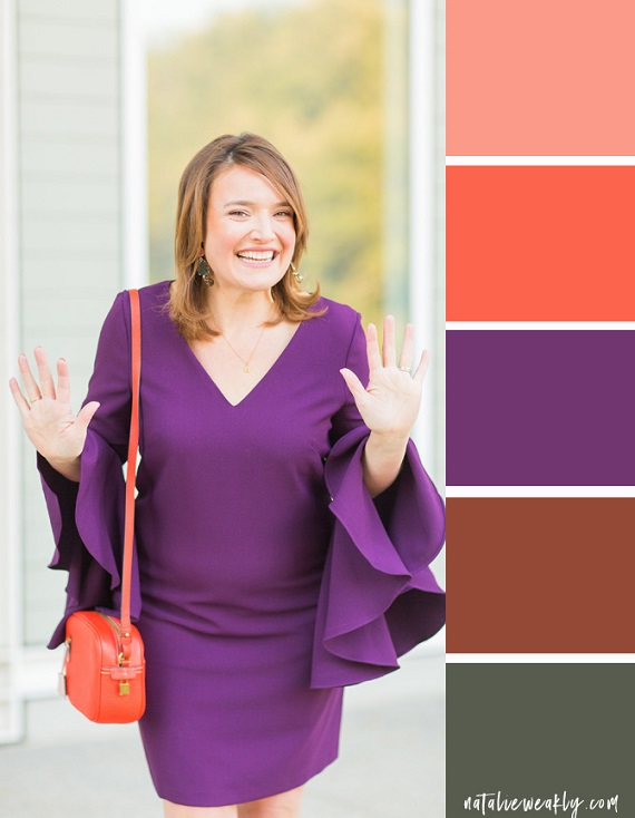 How to Wear Ultra Violet Houston Life Segment Plum and Orange