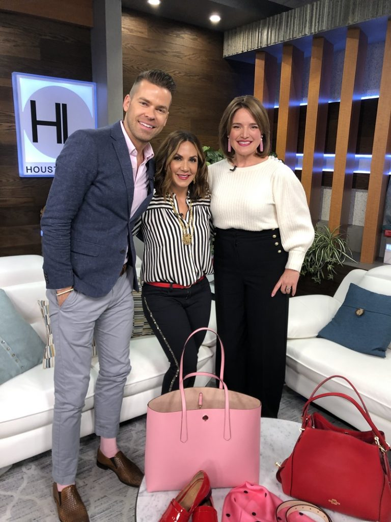 Psychology of Red, White, and Pink Image Consultant Houston on Houston Life with Derrick Shore Courtney Zavala and Natalie Weakly