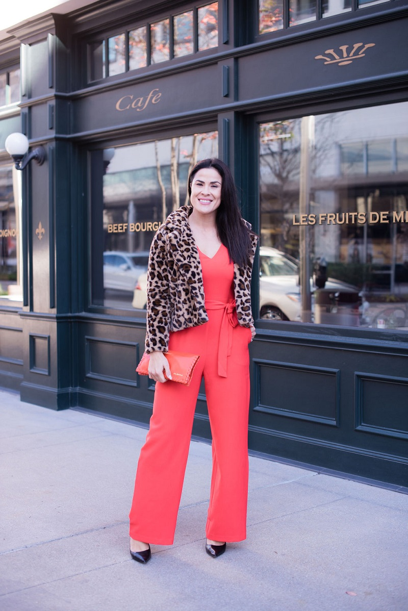 How to wear living coral Houston Image Consultant Natalie Weakly Coral and Leopard