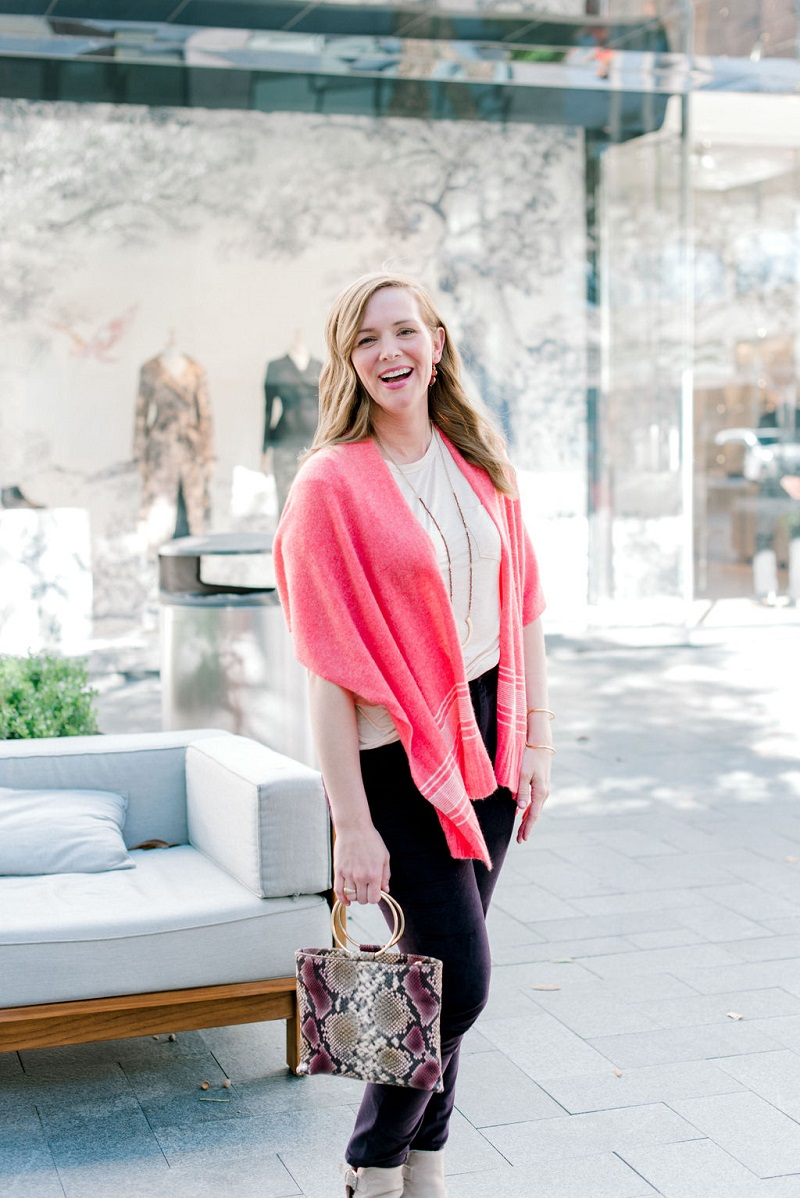 How to wear living coral Houston Image Consultant Natalie Weakly Coral and Plum