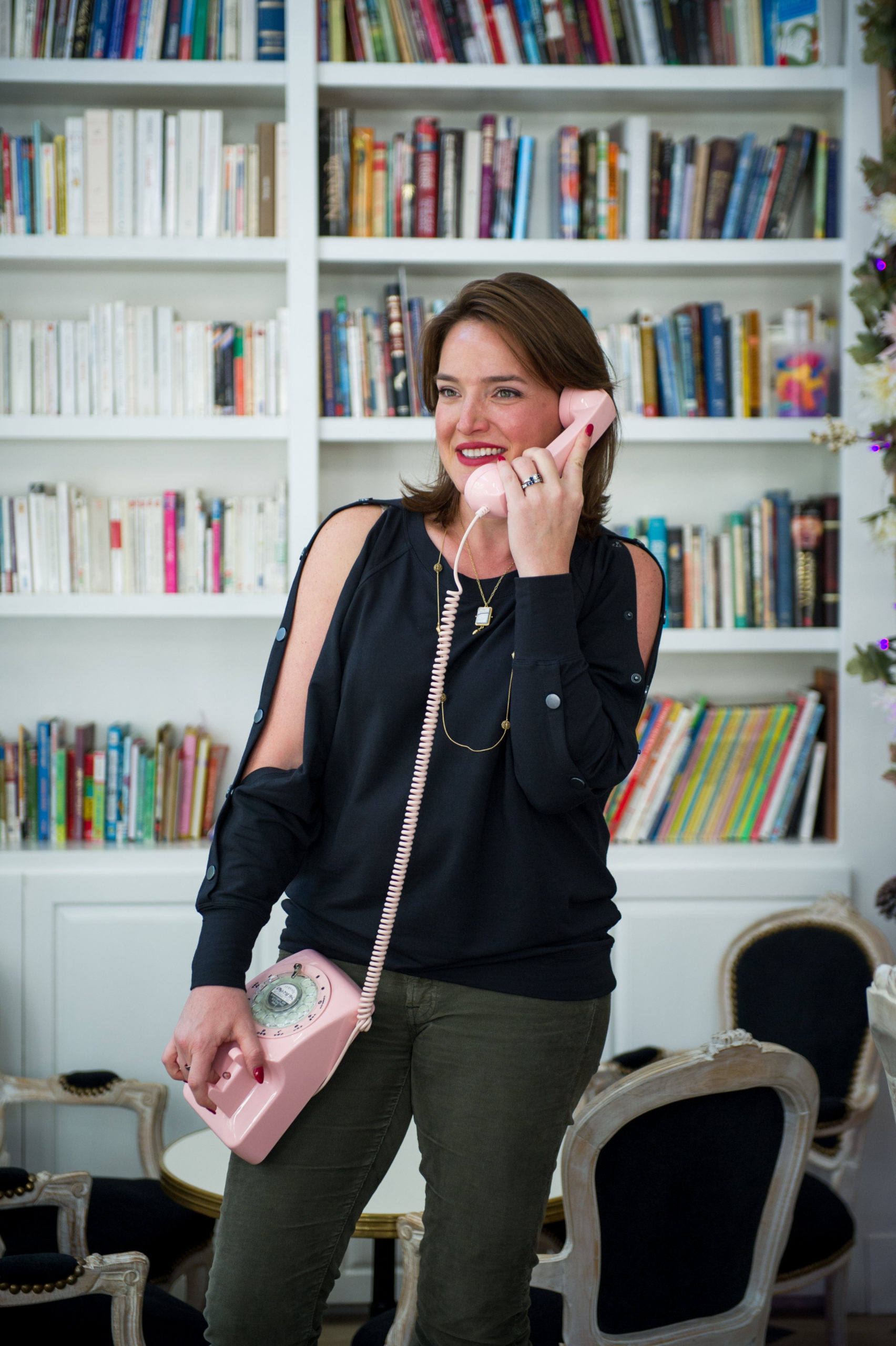 Conference Call Etiquette Image Consultant Houston Pink Phone Library