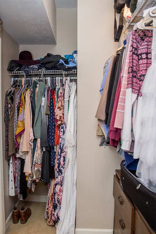 Makeover Winner Female Closet Side View Before Photo Image Consultant Houston
