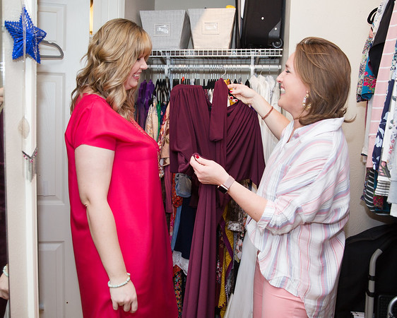 Makeover Winner Female Working in the Closet Image Consultant Houston